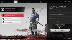 samurai clan armor outfit ghost of tsushima