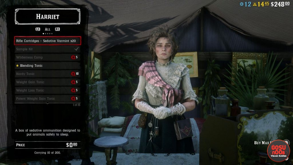 sedative ammo here to get & how to use rdr2 online