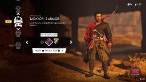 tadayoris armor autumn victory red dye