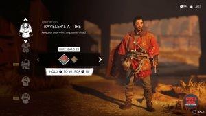 travelers attire ghost of tsushima red armor dye