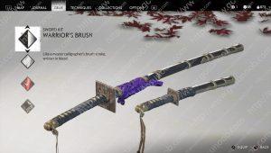 warrior's brush sword kit