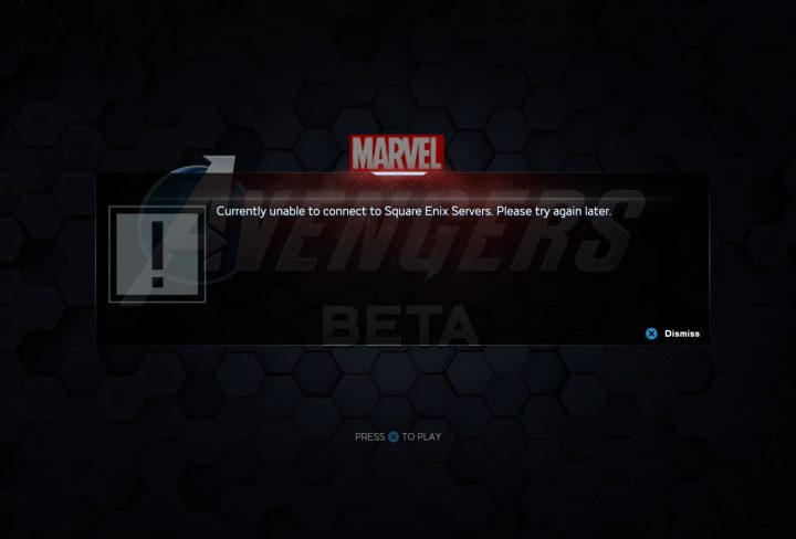 avengers beta start time unable to connect to square enix servers