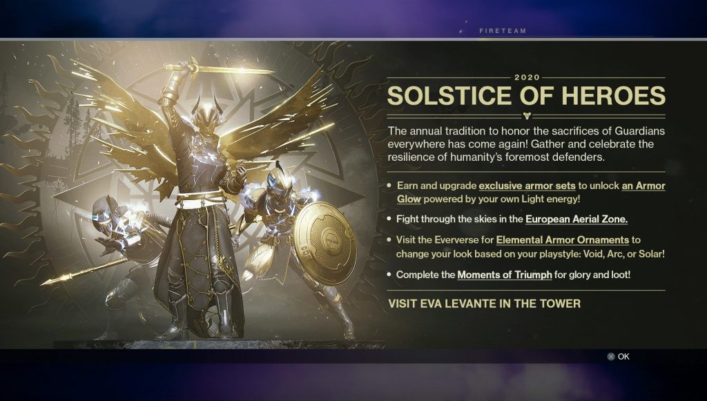 destiny 2 solstice armor objectives tasks bugs
