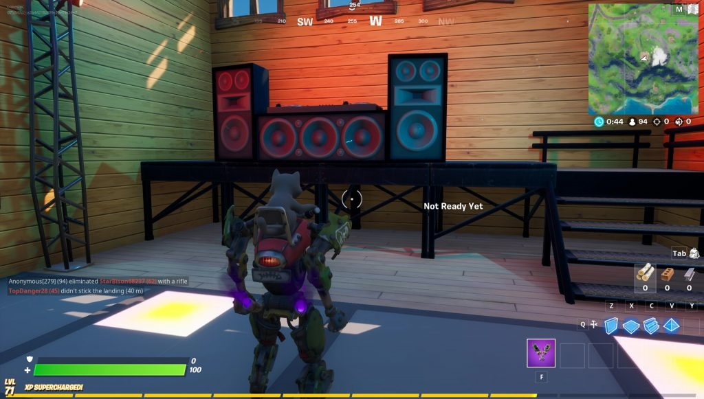 fortnite apres ski dance floor location