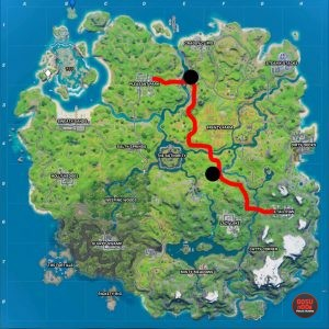 fortnite drive car from retail row to pleasant park map & gas stations weekly challenge