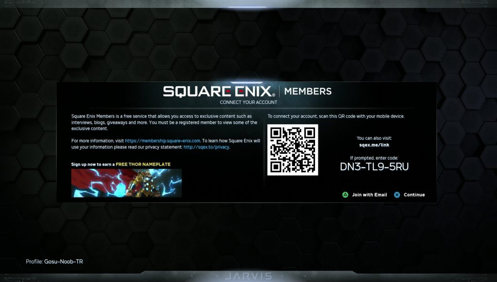 marvel's avengers connect square enix account playstation xbox steam