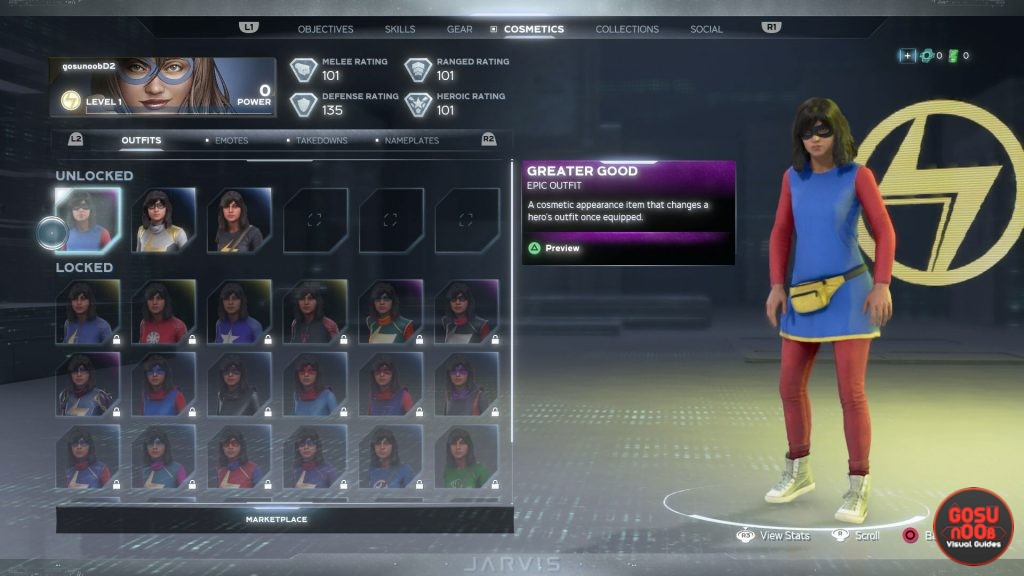 marvels avengers deluxe preorder items showcase & how to equip
