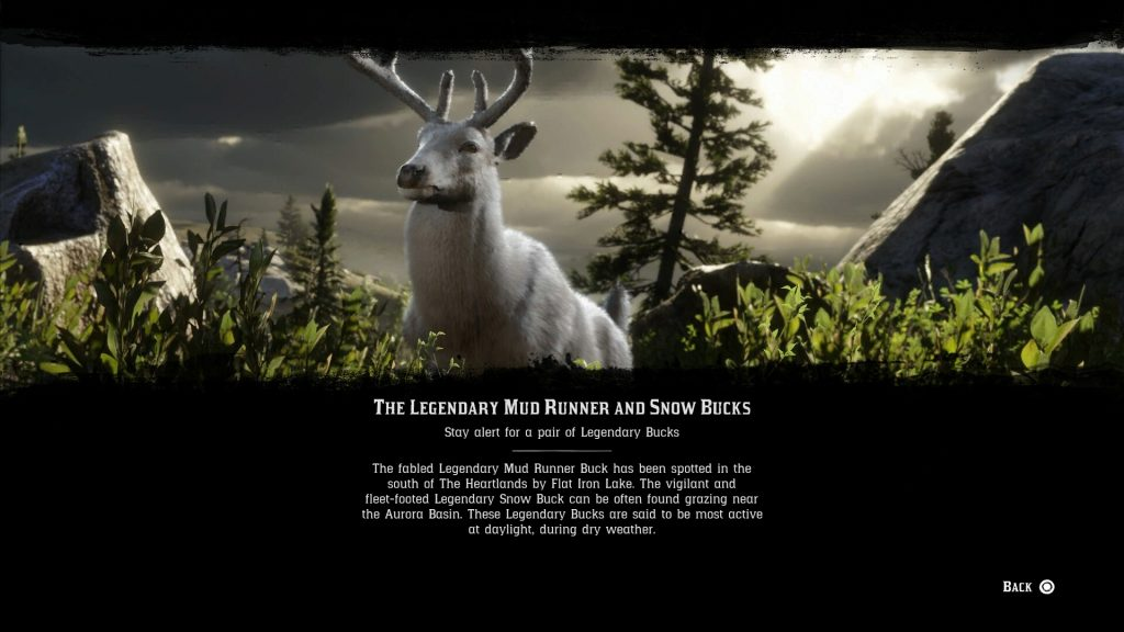 rdr2 online legendary snow buck mud runner locations