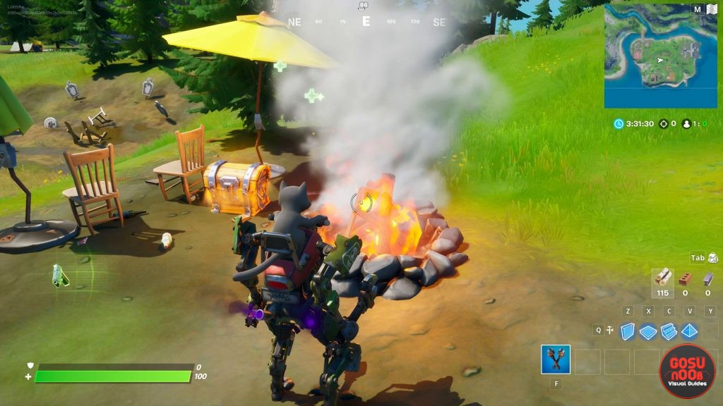 stoke campfires at camp cod locations in fortnite
