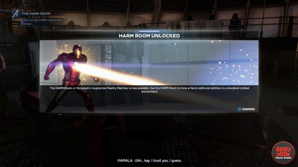 unlock harm room location in marvels avengers