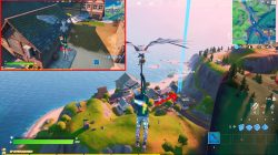 blue xp coin location fortnite craggy cliffs