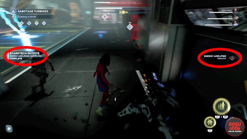 complete starktech outfits fallen prime synthoid locations in marvels avengers