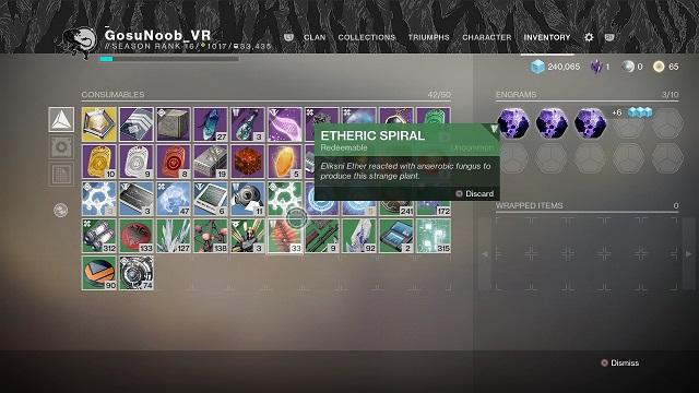 destiny 2 etheric spiral