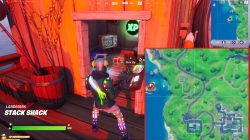 fortnite green xp coin stack shack