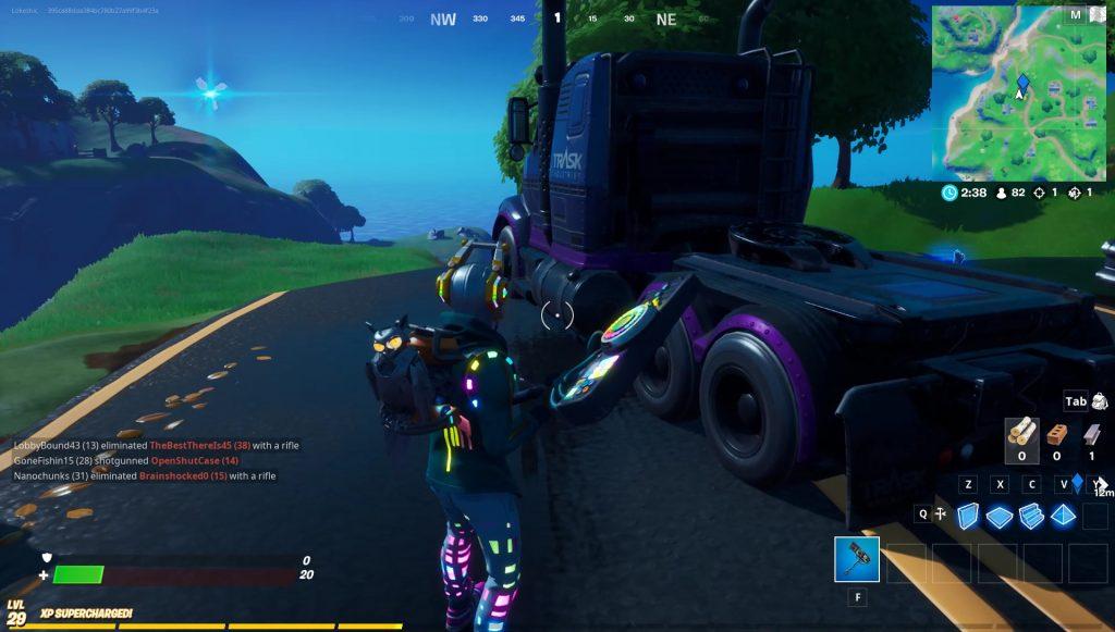 locate trask transport truck fortnite