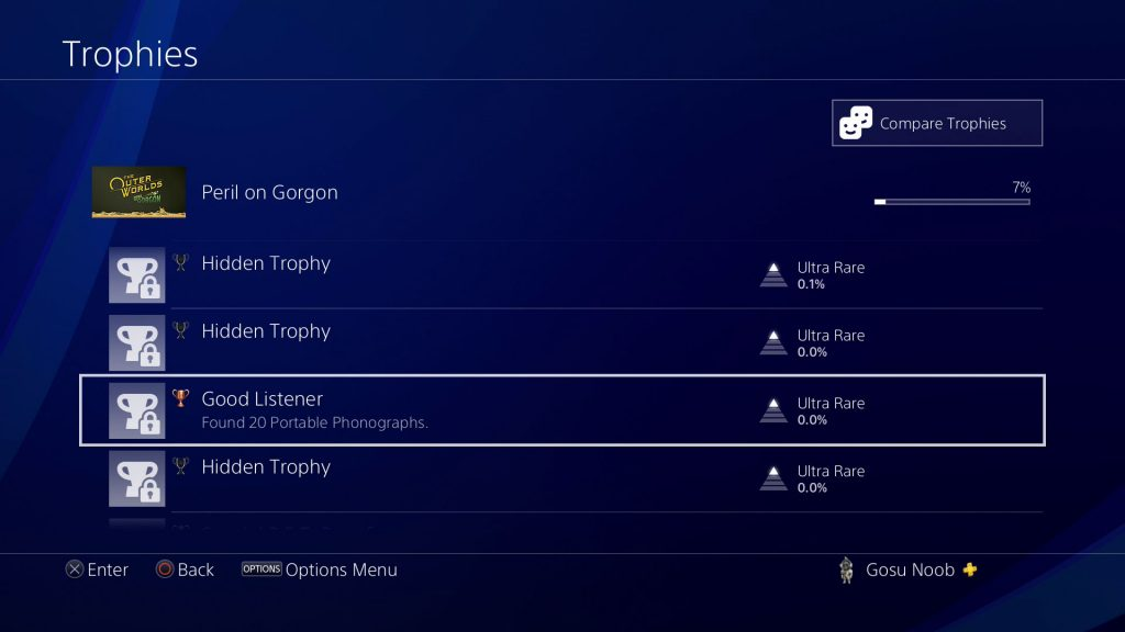 outer worlds peril on gorgon dlc trophies achievements list