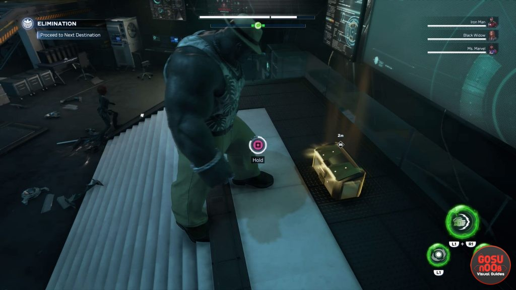 to tame a titan secret gold chest room unlock in marvels avengers
