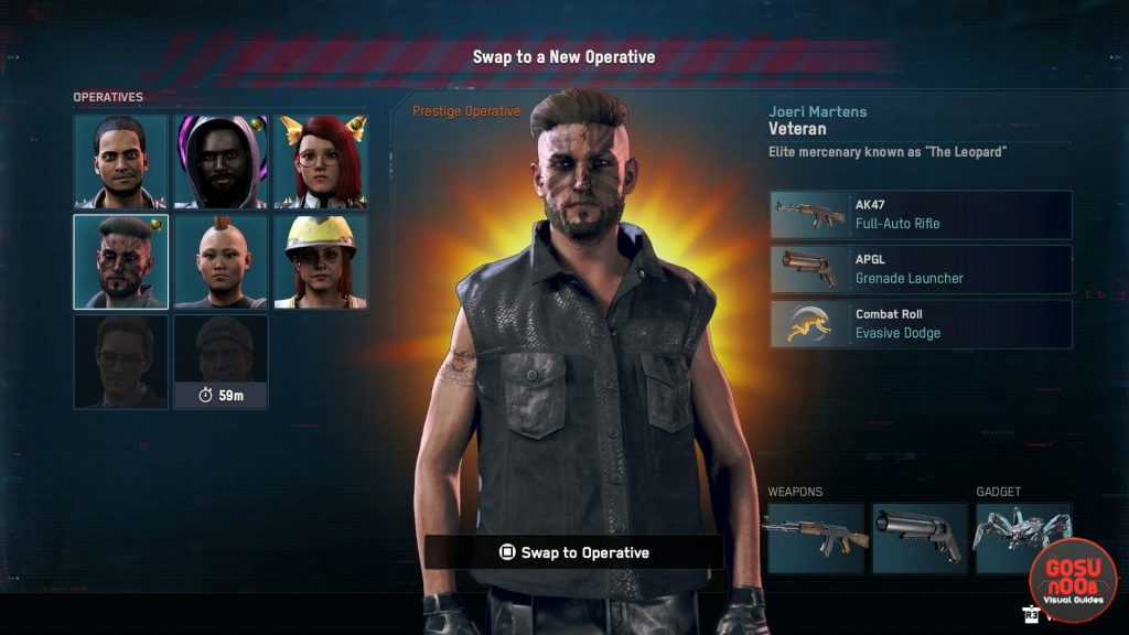 equip different weapons guns on operatives watch dogs legion