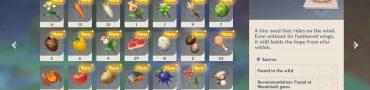 genshin impact dandelion seeds locations