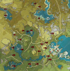 genshin impact geoculus locations lisha