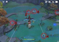 genshin impact lingju pass geo pillars puzzle