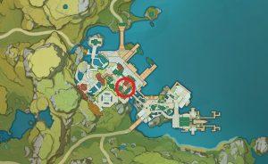 genshin impact liyue harbor nameless treasure vendor
