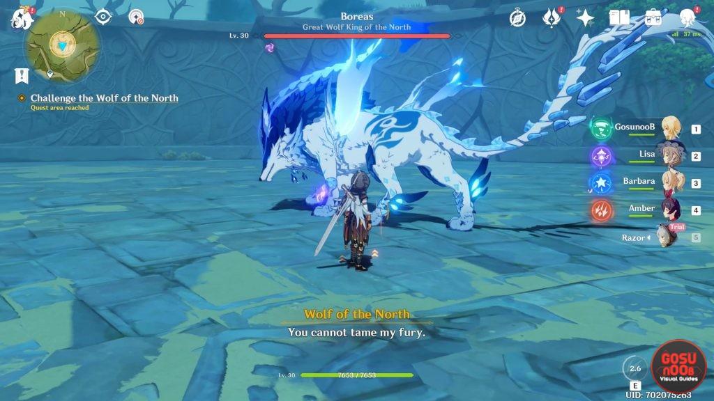 genshin impact wolf of the north challenge