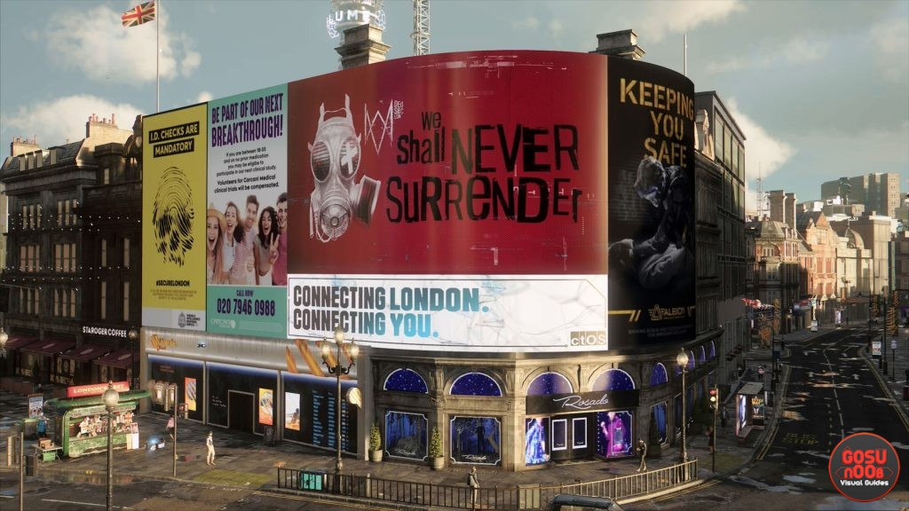 piccadilly circus propaganda puzzle in westminster watch dogs legion