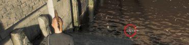 watch dogs legion mask in the water under london bridge