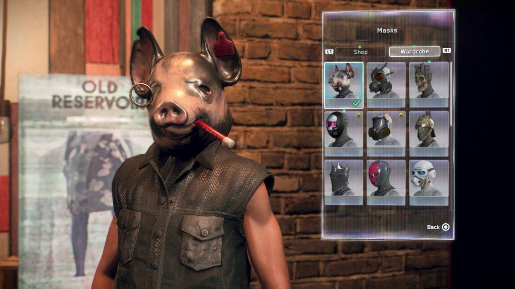 watch dogs legion pig mask