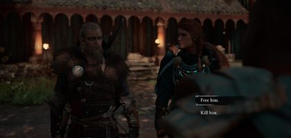 ac valhalla kill or spare norse warrior uninvited guests quest dag dialogue choice