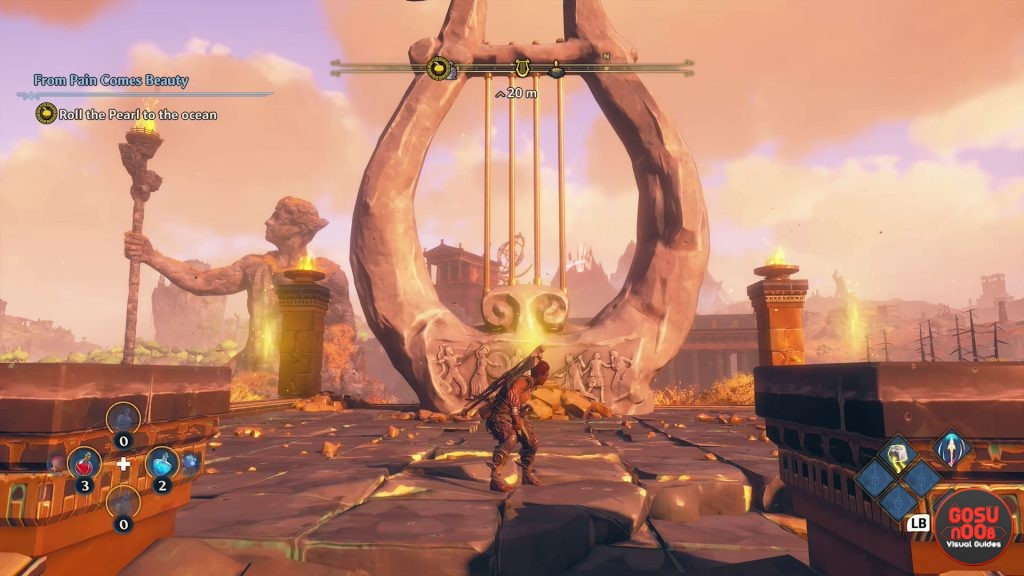 immortals fenyx rising lyre myth challenge clashing rocks puzzle solution