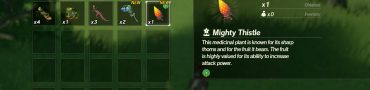 mighty thistle & armoranth location age of calamity