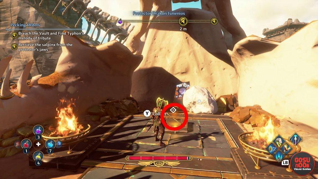 retrieve salpinx from protectors jaws in immortals fenyx rising