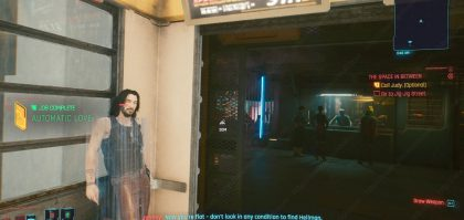 Cyberpunk 2077 Tapeworm Talk to Johnny Bug Fix