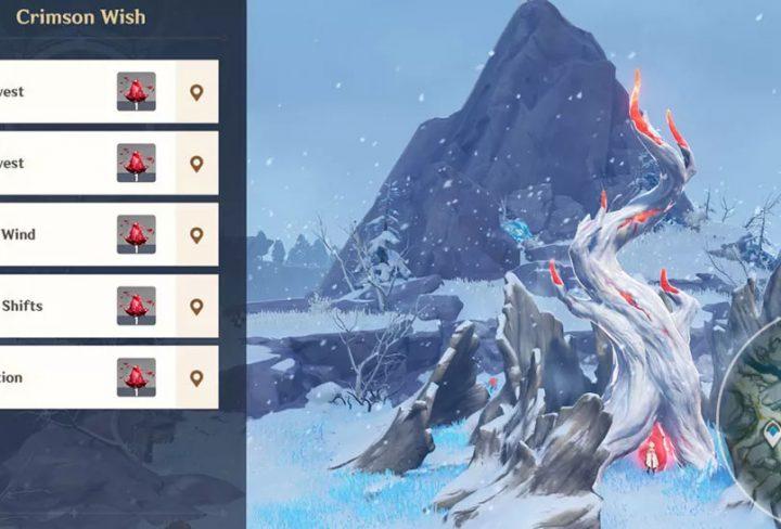Genshin Impact Crimson Wish Frost Bearing Tree