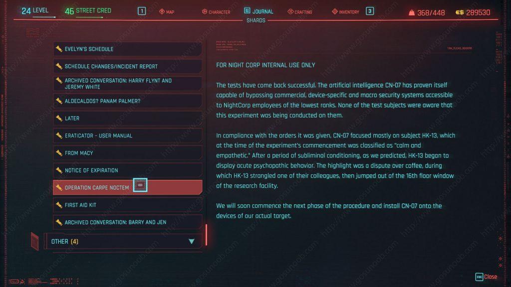 Sandras Databank full disclosure cyberpunk 2077
