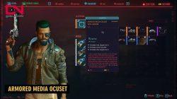 armored media ocuset jackson plains legendary clothes cyberpunk 2077