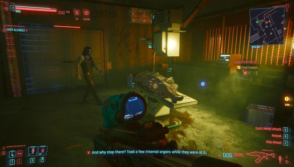 cyberpunk 2077 disasterpiece quest