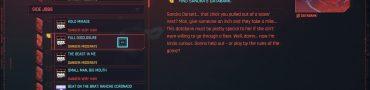 cyberpunk 2077 full disclosure find sandras databank