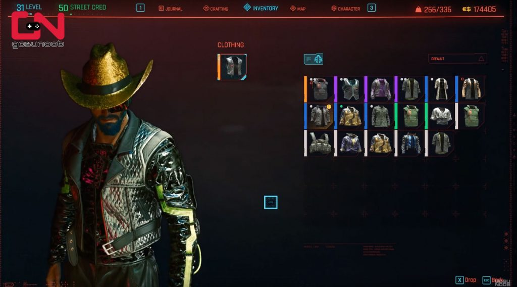 cyberpunk 2077 gold cowboy hat