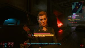 cyberpunk 2077 meredith choice take chip or not pickup job