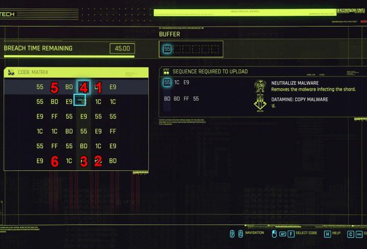 cyberpunk 2077 militech datashard how to hack