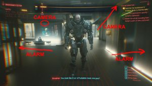 cyberpunk 2077 scan apartment security system
