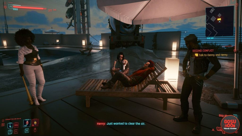cyberpunk 2077 second conflict denny or henry