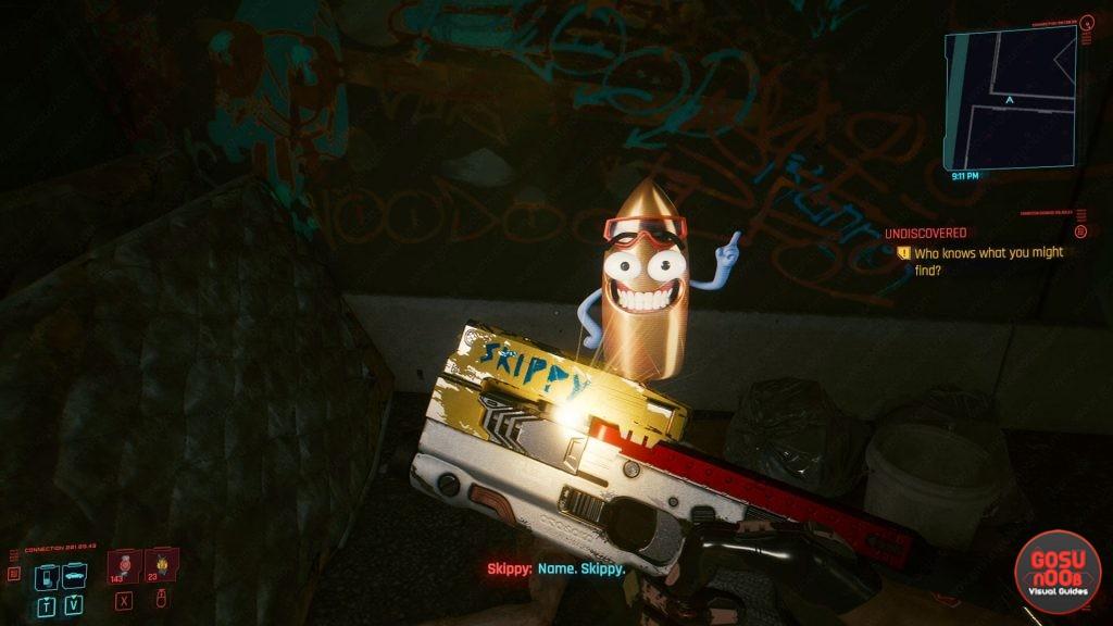 cyberpunk 2077 skippy pistol location