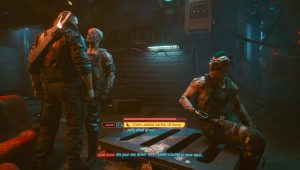 cyberpunk 2077 talk to dum dum tell jackie to sit down or not