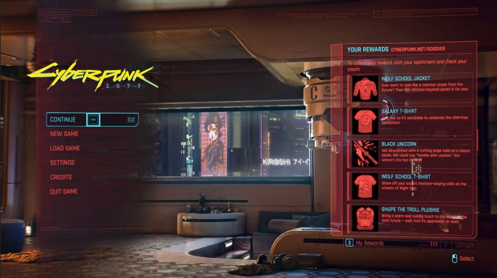 cyberpunk 2077 where to find preorder items