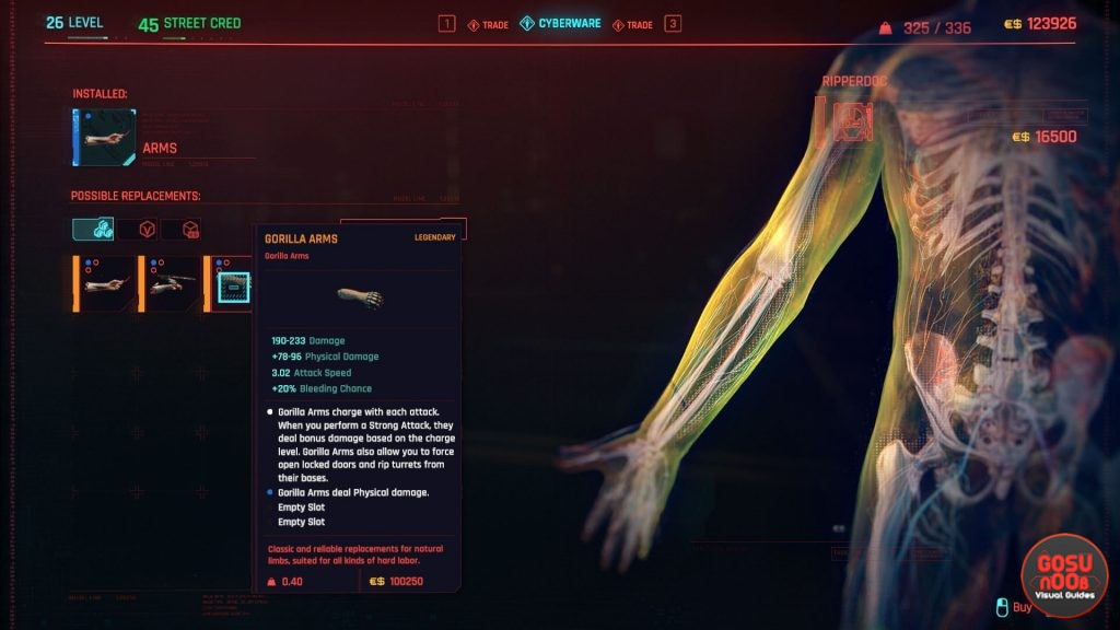cyberpunk gorilla arms