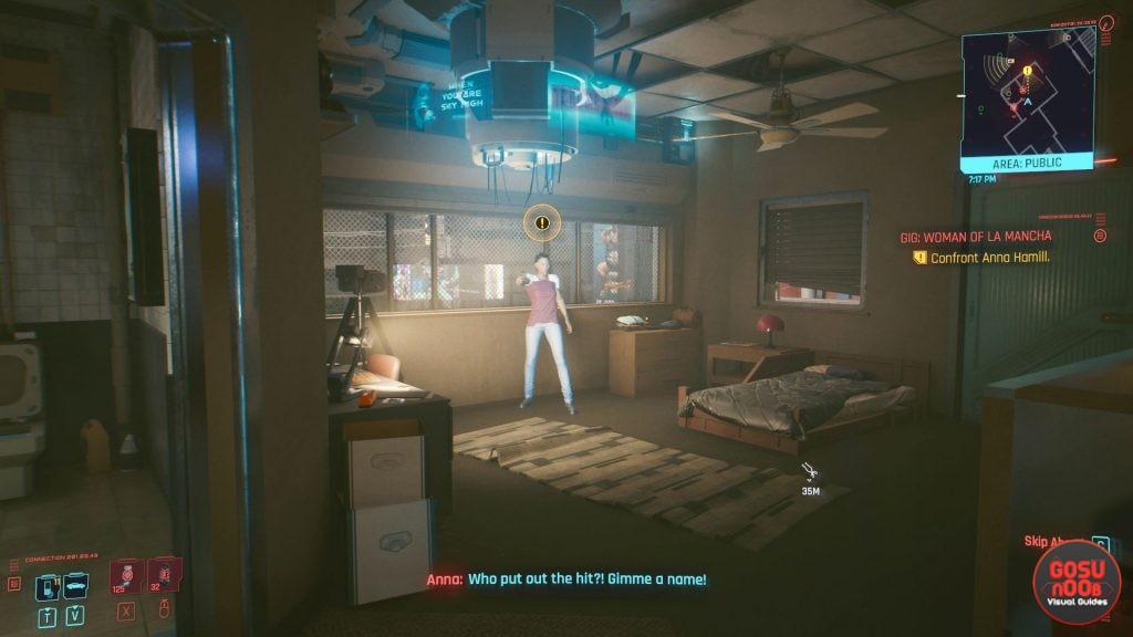 find & confront anna hamill woman of la mancha gig cyberpunk 2077